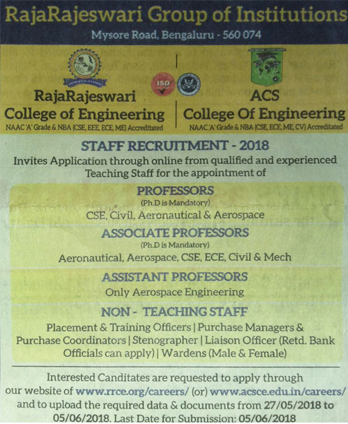 ACSCE Staff Requirements