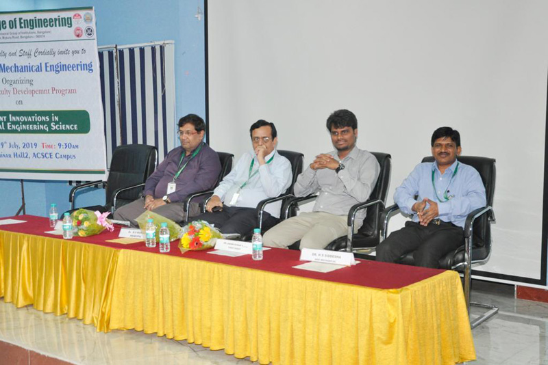 Two Day Faculty Development Program on Recent Innovations in