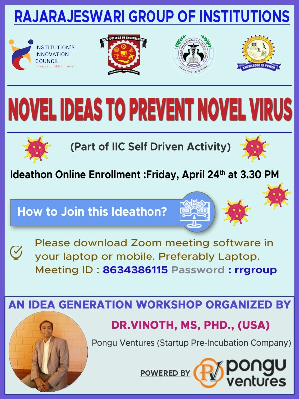Novel Ideas to Prevent Novel Virus