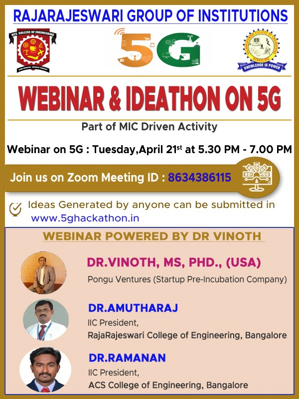 Webinar & Ideathon on 5G