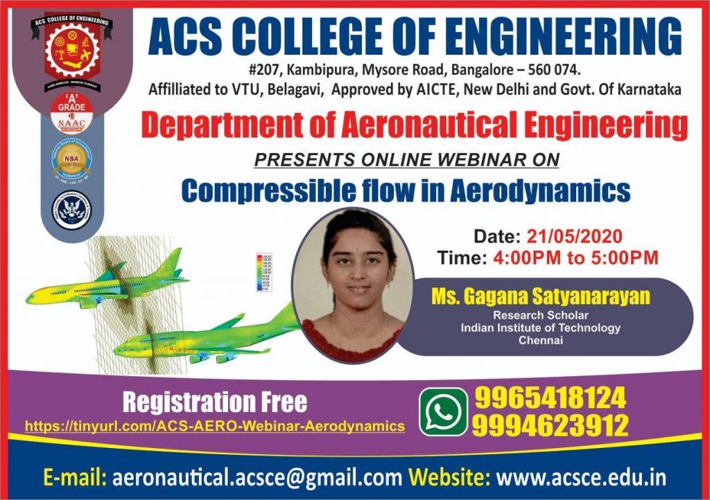 Compressible flow in Aerodynamics