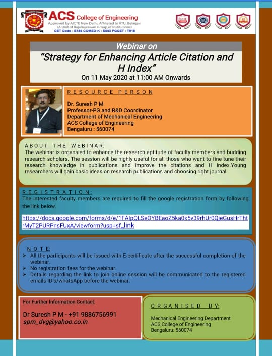 Strategy for Enhancing Article Citation and H Index