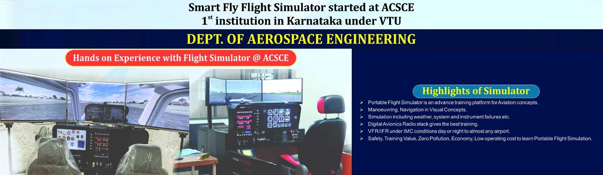 Smart Fly Flight Simulator started in ACSCE Banner