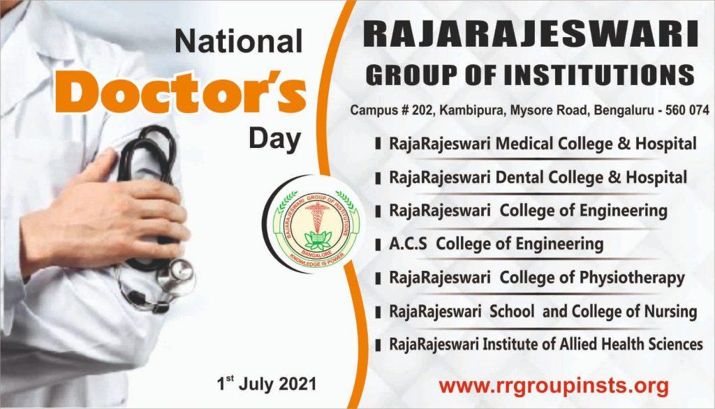 National Doctors Day 1st July RRGI